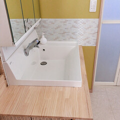 DIY/セルフリフォーム/リノベーション 洗面台を約1万でセルフリフォームしました…(3枚目)