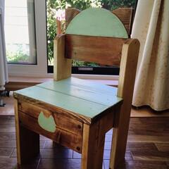 DIY/猫/椅子 /1×4材/リメイク/子供 1×4材で息子の『にゃんこ椅子』を作成し…