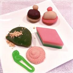 京都/桃の節句/和菓子/ひな祭り/ピンク *ひな祭り* 桃の節句の和菓子はひきちぎ…