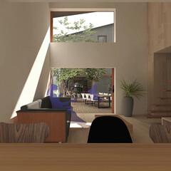住まい/建築/不動産・住宅/家/HOUSE/建築家/... 吹抜と大開口がデッキテラスを繋ぐ事で、 …