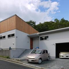 平屋/住宅/北欧/外観/建物/建築/... 平屋の北欧スタイルの家 「森を望む家」み…