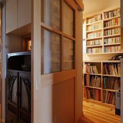 書庫/書斎/本の間/本棚/リビング/リビングダイニング/... リビング隣の本の間~リノベーションで心地…