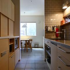 キッチン/パントリー/キッチン収納/キッチン背面収納/オーダーメイドキッチン/ステンレスキッチン/... 収納たっぷり機能的なキッチン ステンレス…(1枚目)