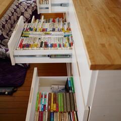 本棚/壁面収納/家具/造作家具/本好き/文庫/... 文庫が3列ぴったりおさまる「3,500冊…