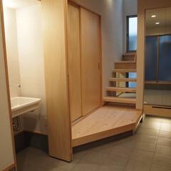 新築/新築住宅/住まい/玄関/手洗い/玄関土間/... 玄関土間の手洗い 「インナーテラスのある…