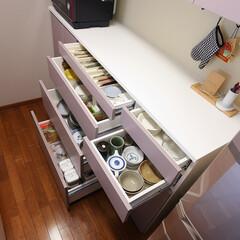 キッチン収納/オーダーキッチン/オープンキッチン/キッチン/キッチンリフォーム/リノベーション/... 大容量のキッチン背面収納 「コラベルのあ…