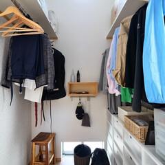 ウォークインクローゼット/収納/家事/片付け/衣類/ハンガー/... 高天井で家事ラク間取りのウォークインクロ…