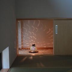 和室/畳/照明/新築/一戸建て/階段/... 和室から楽しめる灯り 「インナーテラスの…