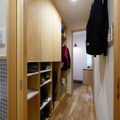 玄関/玄関収納/下駄箱/シューズクローゼット/収納/下足箱/... コンパクトな住まいの機能的なシューズクロ…