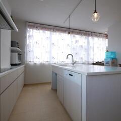 キッチン/オーダーキッチン/食洗機/ミーレ/白いキッチン/ホワイト/... ミーレの食洗機とカラーステンレスシンクの…