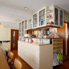 本棚/リビングダイニング/収納/家具/壁面収納/造作家具/... 3,500冊を収納できるリビングダイニン…