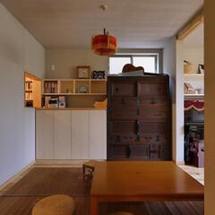 造作家具/ダイニング/アンティーク家具/漆喰/座卓/ダイニングテーブル/... アンティーク家具のある、座卓のダイニング…