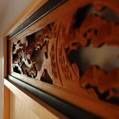 和室/欄間/リノベーション/畳/襖/京からかみ/... 和室の欄間を移設したリノベーション 「昭…