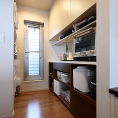 キッチン/キッチン収納/パントリー/パントリー収納/家電収納/整理/... 家電やストック品を収納できるパントリー収…