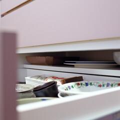 キッチン/キッチン収納/棚/食器棚/食器/引き出し/... キッチン収納の引き出しの奥に隠れた秘密 …