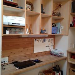 キッチン/キッチン収納/デスク /ワークデスク/女性建築士/新築住宅/... キッチン横のデスクスペース 家計簿をつけ…