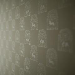 襖/ふすま/京からかみ/襖紙/和室/テキスタイル/... 京からかみの襖 「昭和ガラスの家」みゆう…