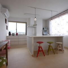 キッチン/オーダーキッチン/アイランドキッチン/ミーレ/キッチン収納/女性建築士/... すっきりとしたアイランドキッチン 「フレ…