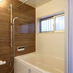 お風呂/お風呂掃除/浴室/風呂フタ/鏡/掃除/... 鏡も風呂フタを設けないお風呂 「都会の小…