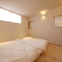 寝室/高窓/新築/新築住宅/一戸建て/インテリア/... 高窓の寝室 「インナーテラスのある家」み…