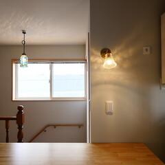 ブラケット照明/照明/ガラス/フリースペース/漆喰/住まい/... フリースペース作業台前のガラスブラケット…(1枚目)
