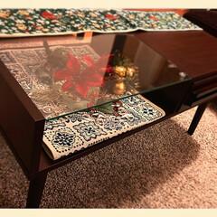 IKEA/リビングテーブル/リビング/Xmas雑貨/可愛い/クリスマス2019/... 今年、変え替えで購入したリビングテーブル…