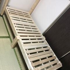 すのこベッド/壁収納 ベッド/折りたたみ ベッド/DIY 壁収納式折りたたみスノコベッド