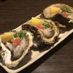 牡蠣/岩牡蠣/外食/夏の思い出/グルメ 夏と言えば岩牡蠣!←?  写真だと小さく…