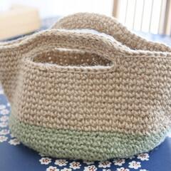 夏バッグ/シンプルな暮らし/シンプルナチュラル/くらし/暮らし/バッグ/... 伯母からプレゼントしてもらった 手作りの…