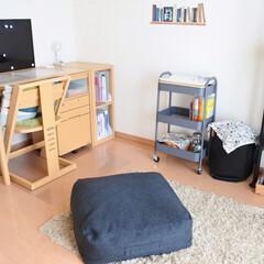 布団収納/すっきり暮らす/シンプルライフ/マンション暮らし/シンプルナチュラル/勉強部屋/... 子供部屋。 真ん中に置いてあるクッション…