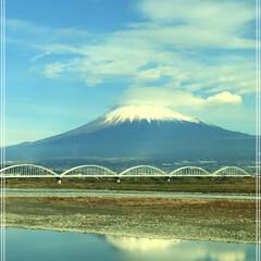 「念願の富士山😊見る事が出来ました❣️」(1枚目)
