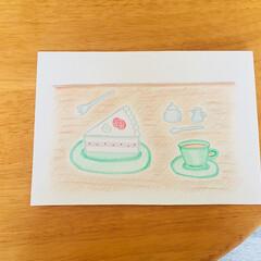 コーヒー/ケーキ/キッチン雑貨/スイーツ/インテリア/フード/... 色鉛筆で作成しました(о´∀`о) 淡い…(1枚目)