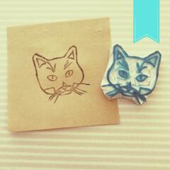 くろねこ/保護猫/こんぶ/消しゴムスタンプ/消しゴムはんこ/出品中/... ヤフオクで出品してみました。 https…