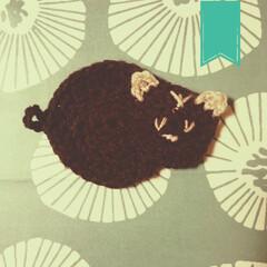 ねこ鍋/ニャンモナイト/猫/節約/エコ活動/スポンジ/... なかなか刺繍がうまくいかない… 豚じゃあ…