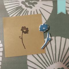 消しゴムスタンプ/消しゴムハンコ/消しゴムはんこ/ハンドメイド/手作り/アマチュア/... お花を作りました。 細い線も上達してる気…