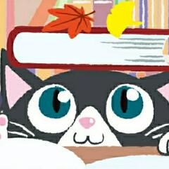 本/猫/読書/秋/AI/CG/... ご主人の読書の様子を伺うにゃんこのイラス…