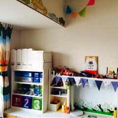 IKEA/キッズ家具/キッズルーム/MICKE MICKEのデスクは3coinsのガーラ…