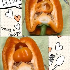 フード びっくり、オレンジパプリカ大を 三等分に…(1枚目)