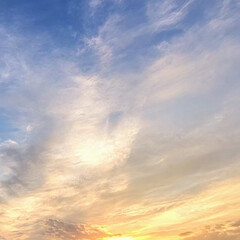 風景/空/夕やけ 🌺🍹🐊🍉🌴🌻🌴🍍  🌴🦩今日の夕やけです…(1枚目)