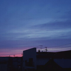空/夕焼け/標茶/北海道/ひらた家具店/令和元年フォト投稿キャンペーン/... 窓から見えた夕焼けがキレイだったんで撮っ…