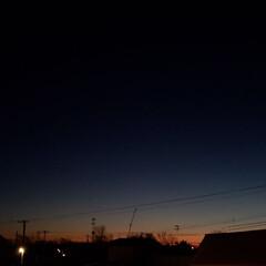 無加工/景色/冬/夕焼け/空/標茶/... 北海道の道東、標茶(しべちゃ)の本日の夕…