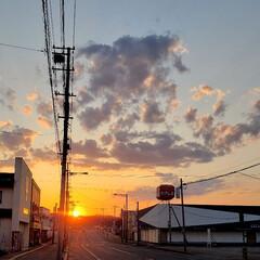 夕陽/夕日/標茶/北海道/平成最後/ひらた家具店/... 本日の夕日。  このくらいの時期だと、ひ…