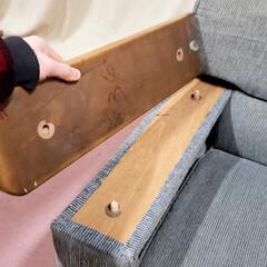 ひらた家具店/平田家具店/家具/ソファ/ソファー/板/... 肘が木の板になっているソファーって長くお…