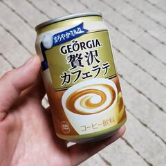 コカ・コーラ ジョージア 贅沢ミルクのカフェオレ 280g 缶 24本(缶コーヒー、コーヒー飲料)を使ったクチコミ「本日のホッと一息のお供。甘いです。  店…」