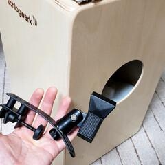 マイクスタンド/手作り/自作/ひらた家具店/DIY 【店長の趣味】 先日、カホンという打楽器…