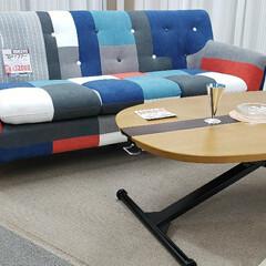 アクセント/パッチワーク/色 /インテリア/ソファ/ソファー/... パッチワーク柄のソファーが入荷しまして。…