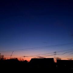 景色/風景/空/夕暮れ/夕焼け/標茶/... ひらた家具店の2階から。 北海道の道東、…