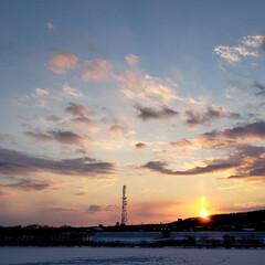 配達帰り/夕陽/夕日/空/ひらた家具店/LIMIAおでかけ部/... 先ほどの配達帰りに一枚撮影。 夕日が美し…