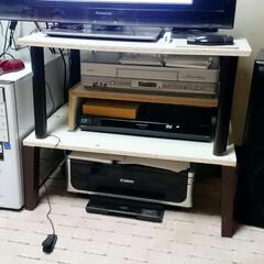 ひらた家具店/自作/手作り/DIY/テレビ台/廃材利用 店長の自室のテレビ台は、店長が自分で作っ…