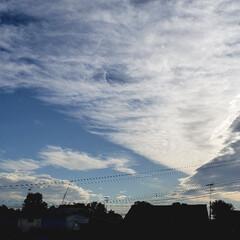 空/雲/残暑/夏/標茶/道東/... ひらた家具店の2階の窓から。 東京などの…
